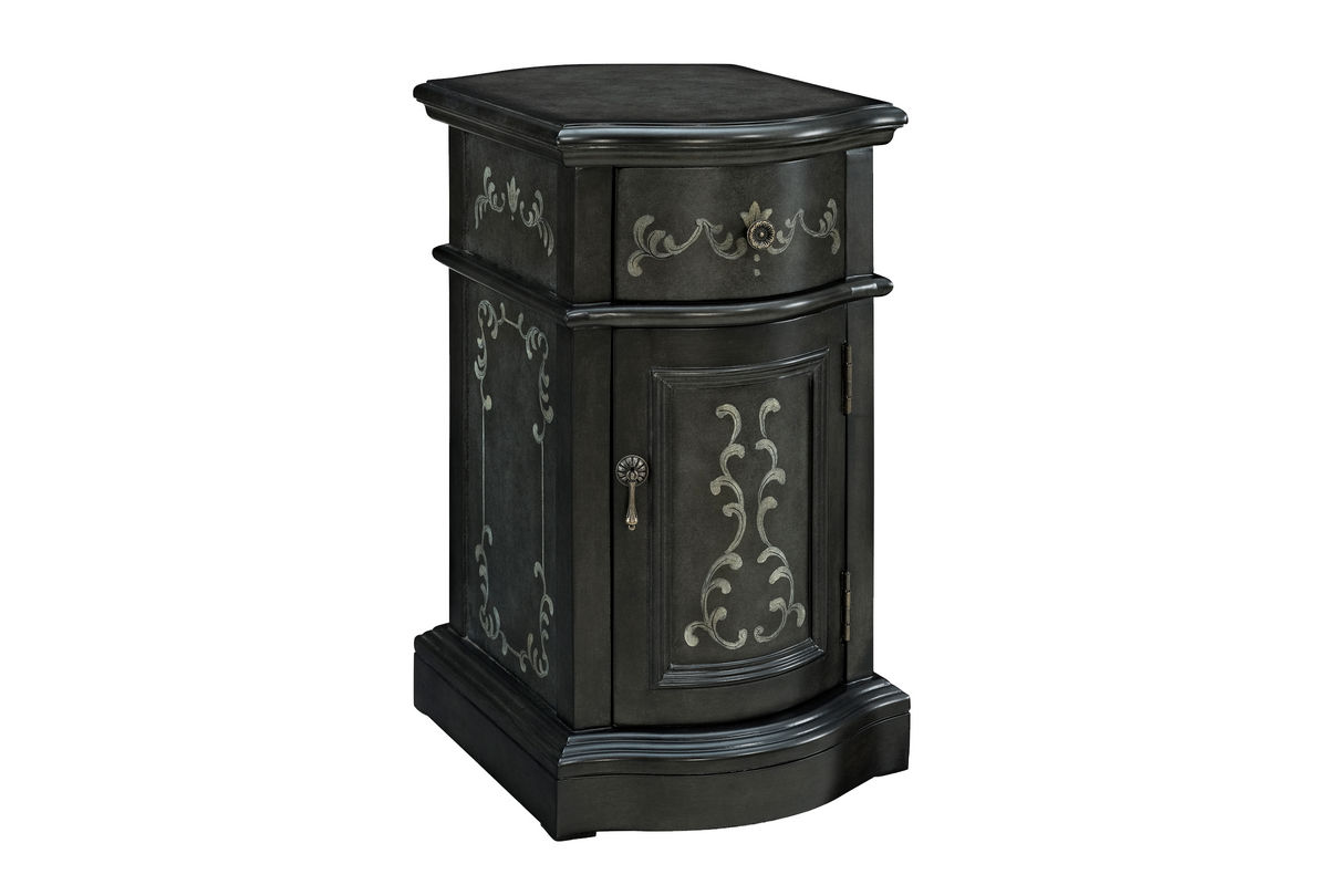 Grey Chairside Storage Cabinet Powell 528 222 At Gardner White