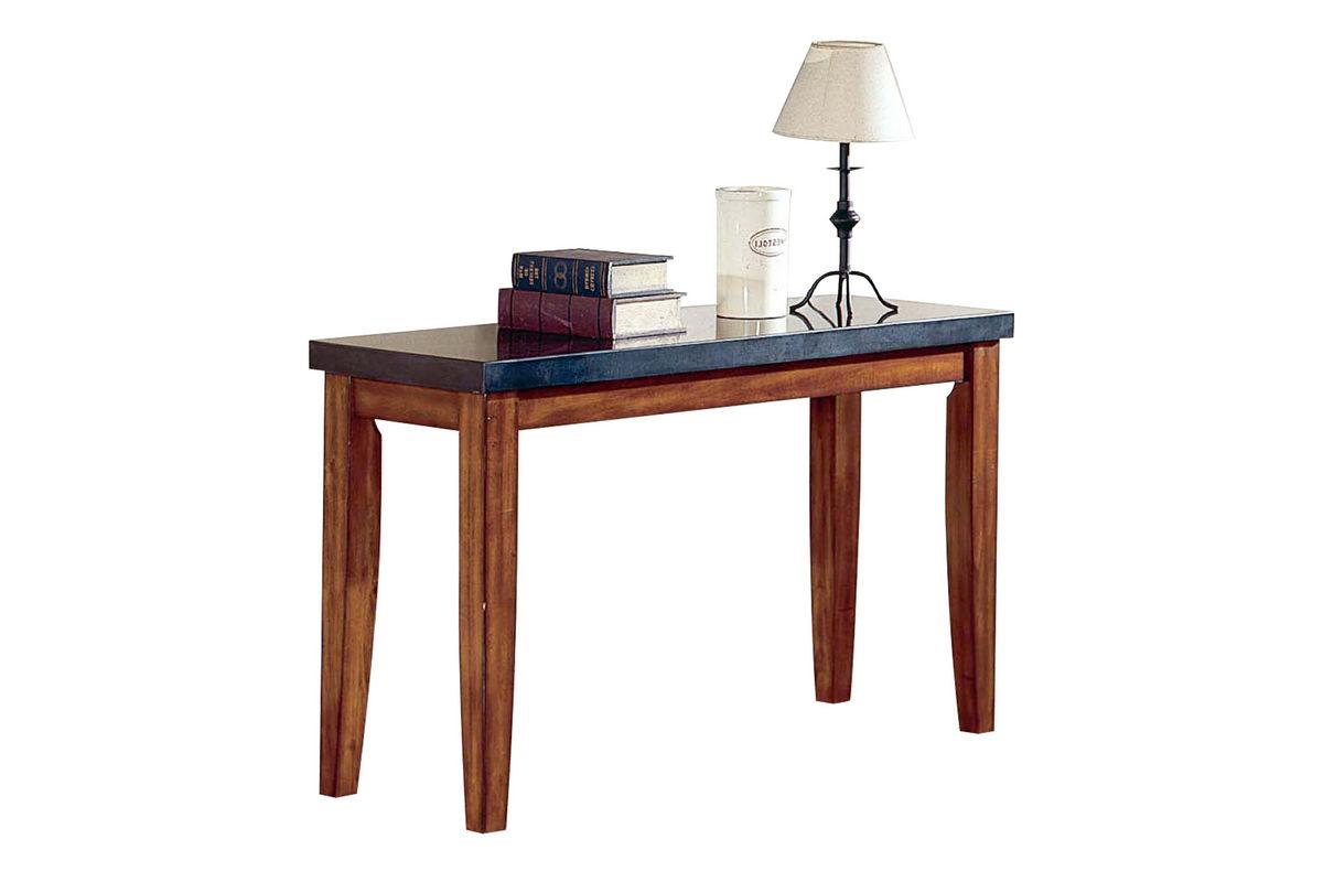 City Wood & Granite Sofa Table at Gardner-White