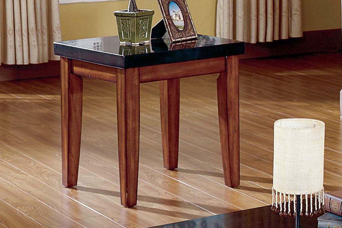 City Wood & Granite End Table At Gardner-White