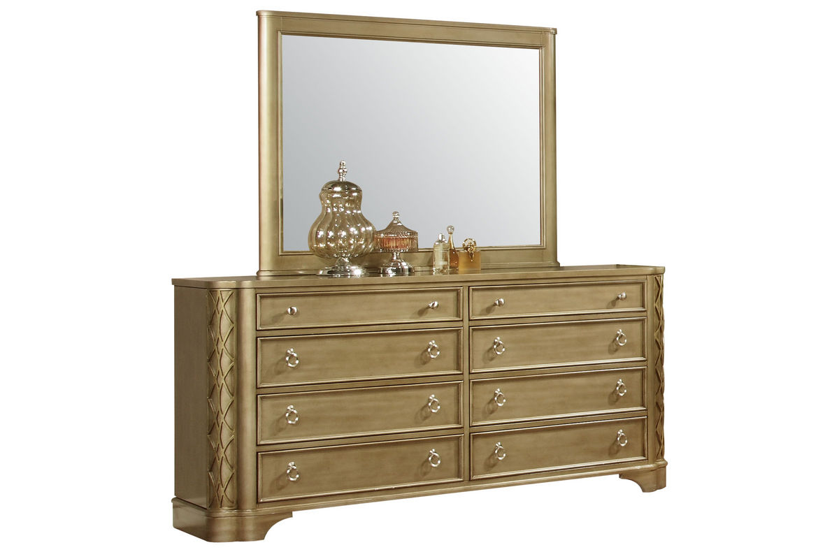 golden dresser mirror at gardner white. Black Bedroom Furniture Sets. Home Design Ideas