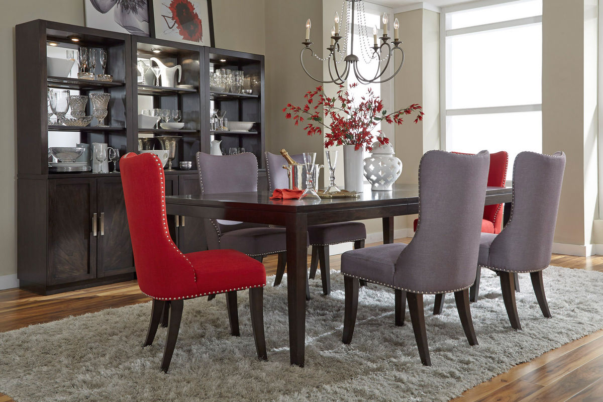 Vera Upholstered Red Side Chair