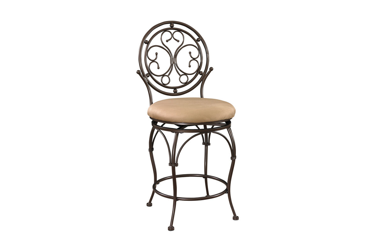 Big And Tall Scroll Circle Back Counter Stool Powell 586 726