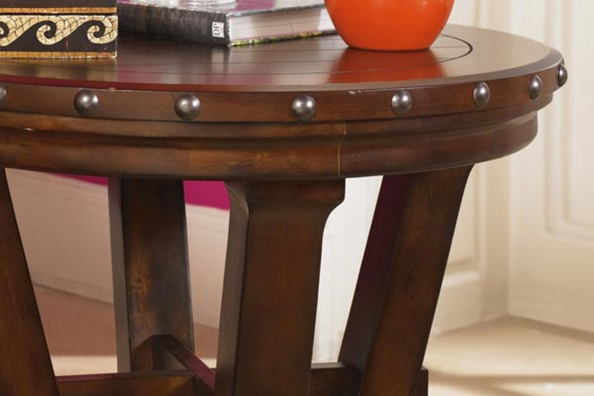 Rustic Round End Table From Gardner White Furniture