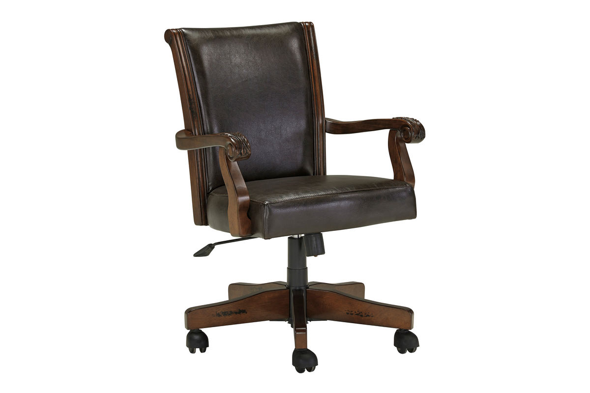 Alymere home office swivel desk chair h669 01a fdrop 170629 for Chair with swivel desk