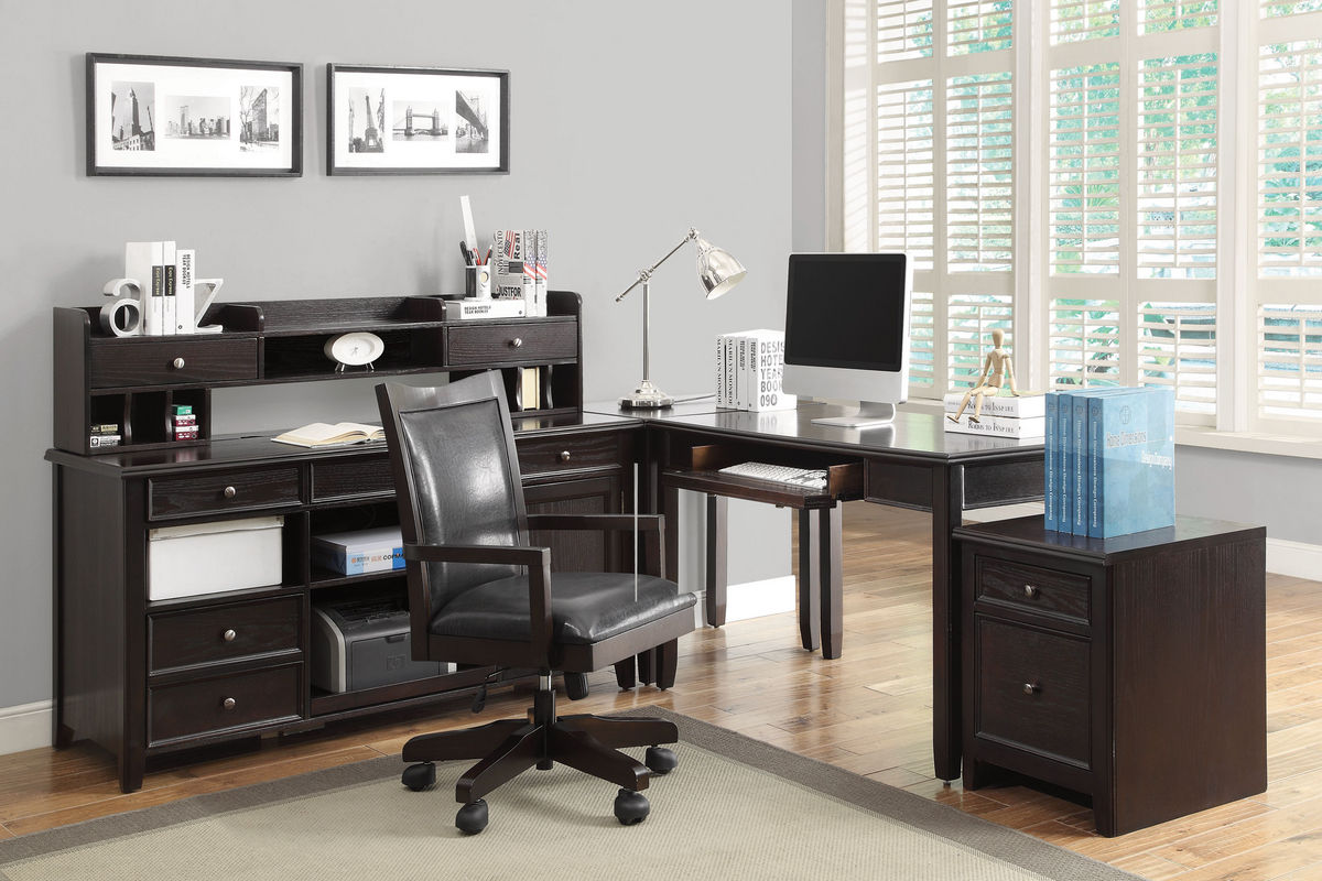 maclay office desk with hutch 801192h