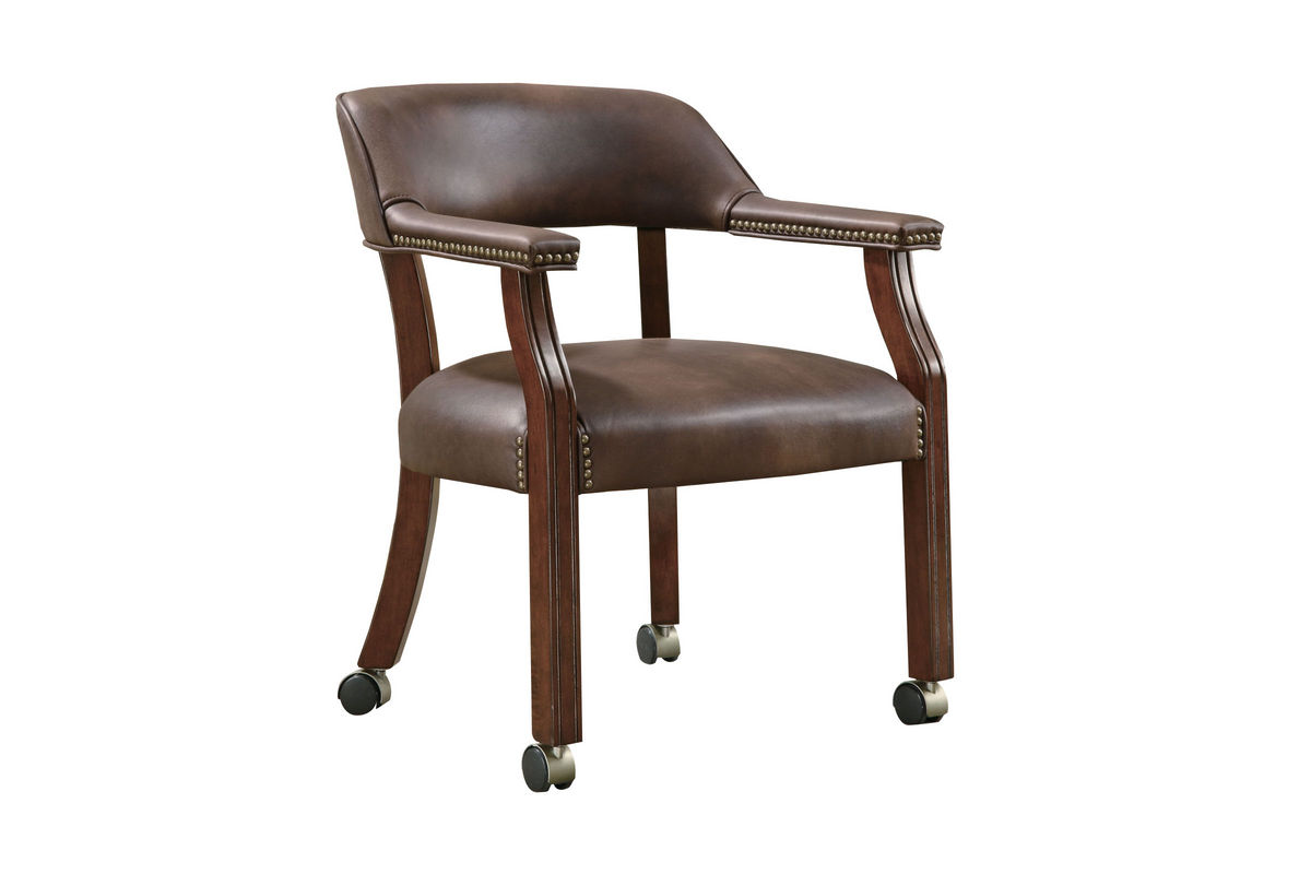 Traditional Brown Office Chair With Casters 517brn At