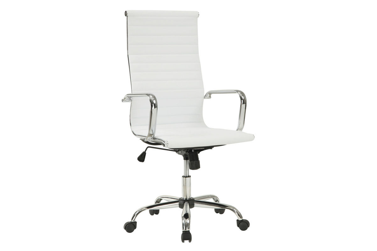 white leather office chair 800177