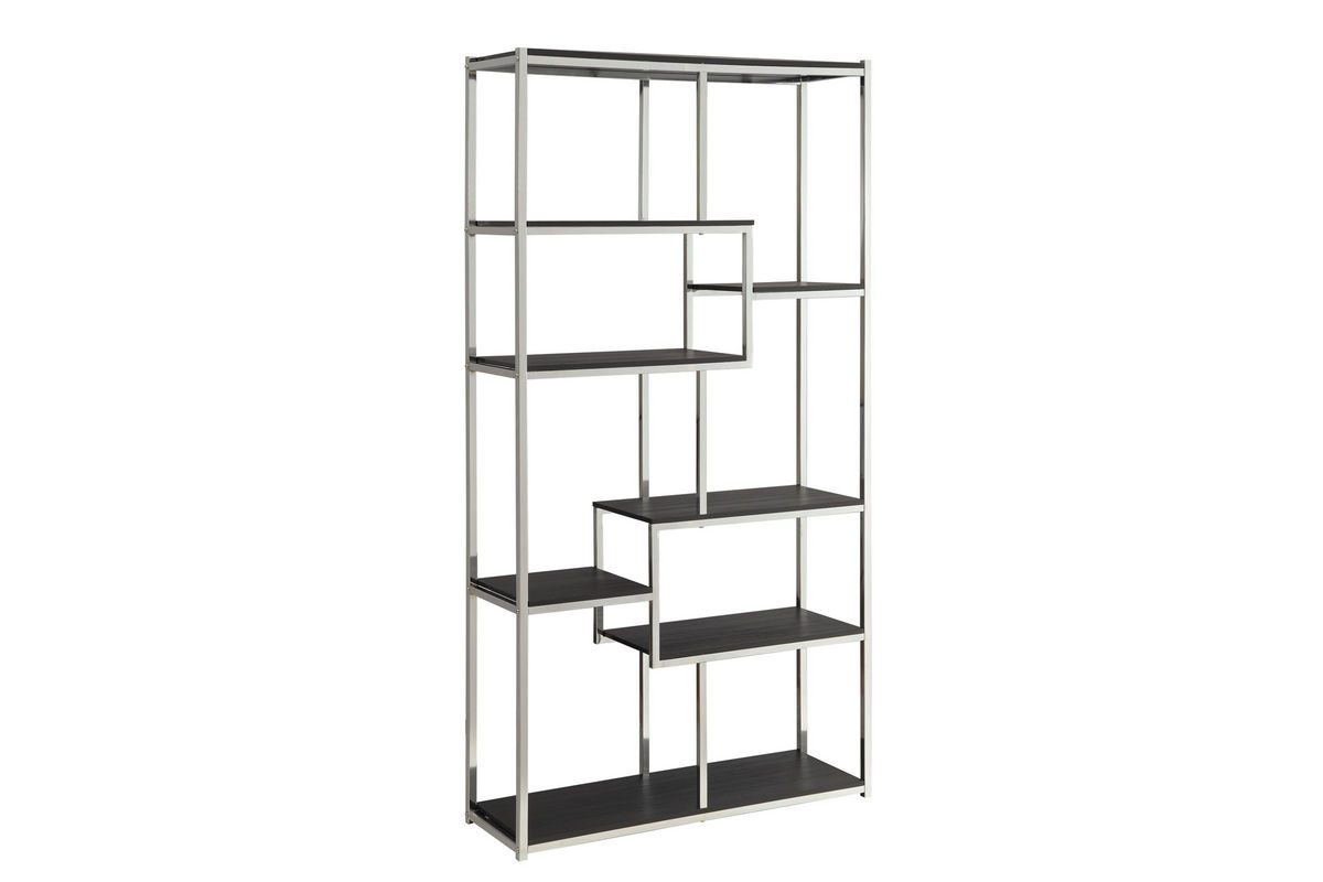 Chrome Wood Bookcase 800470 From Gardner White Furniture