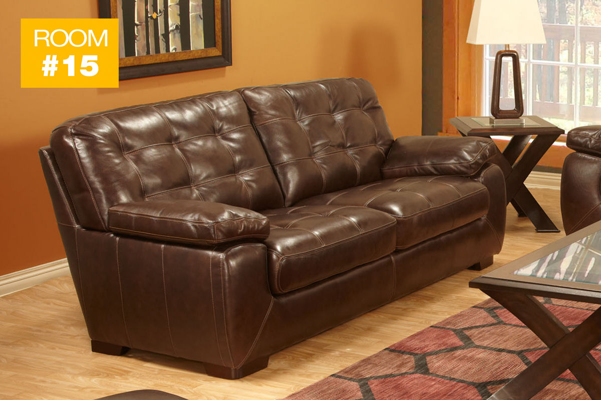 #15 - Tiffany Leather Sofa