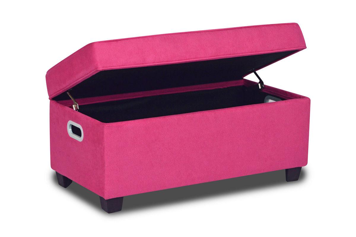 Zippity Kids Jill Storage Bench Passion Pink At Gardner White
