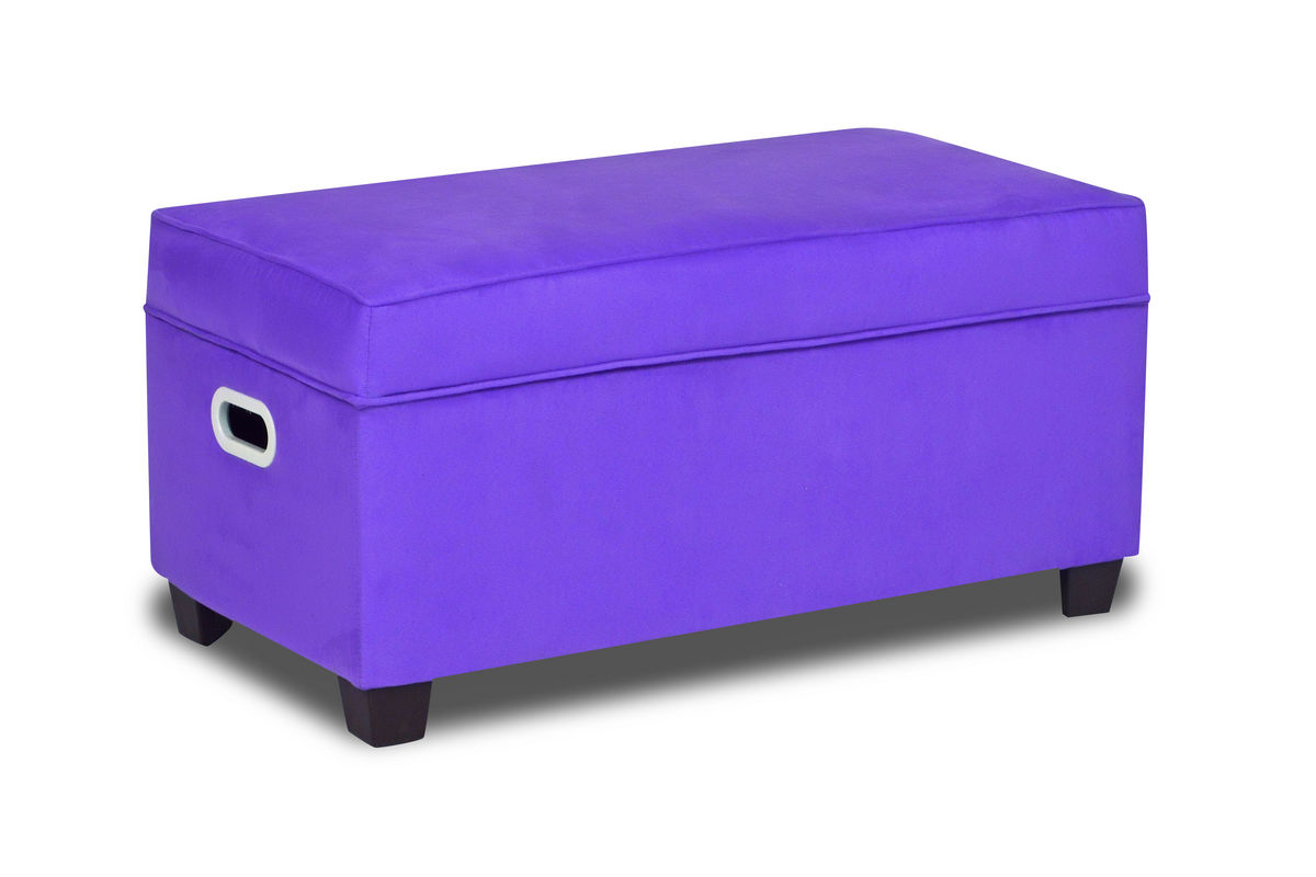 Zippity kids jill storage bench perfectly plum at gardner for Gardner storage