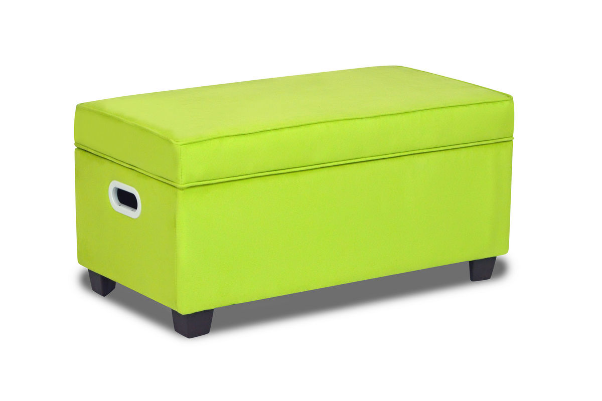 Zippity kids jack storage bench sour apple green at for Gardner storage