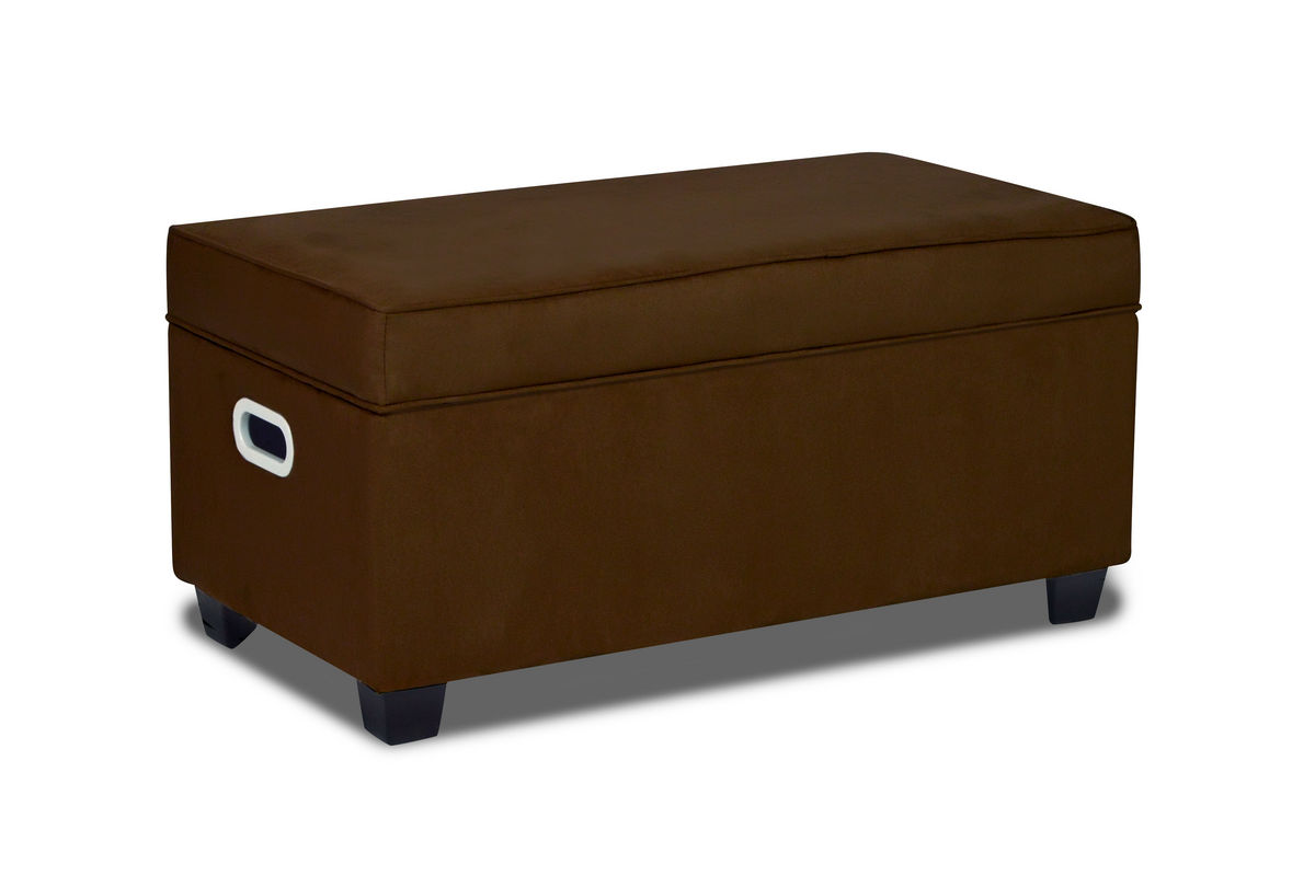 Zippity kids jack storage bench bison at gardner white for Gardner storage