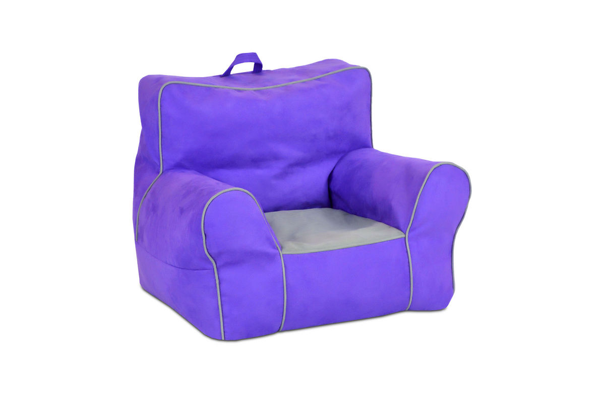 zippity kids soft sided chair with handle perfectly plum