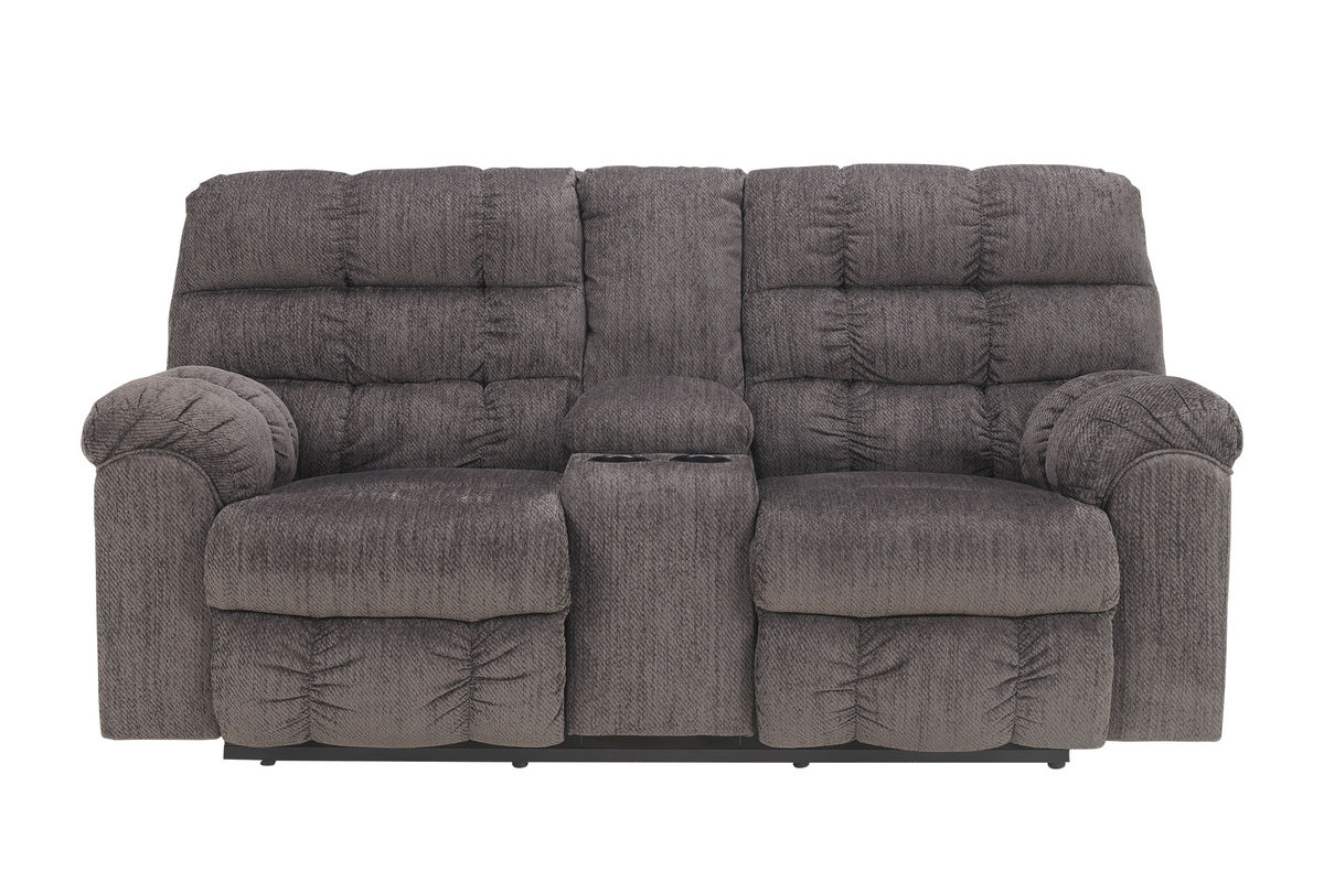 Leona Chenille Reclining Loveseat With Console At Gardner