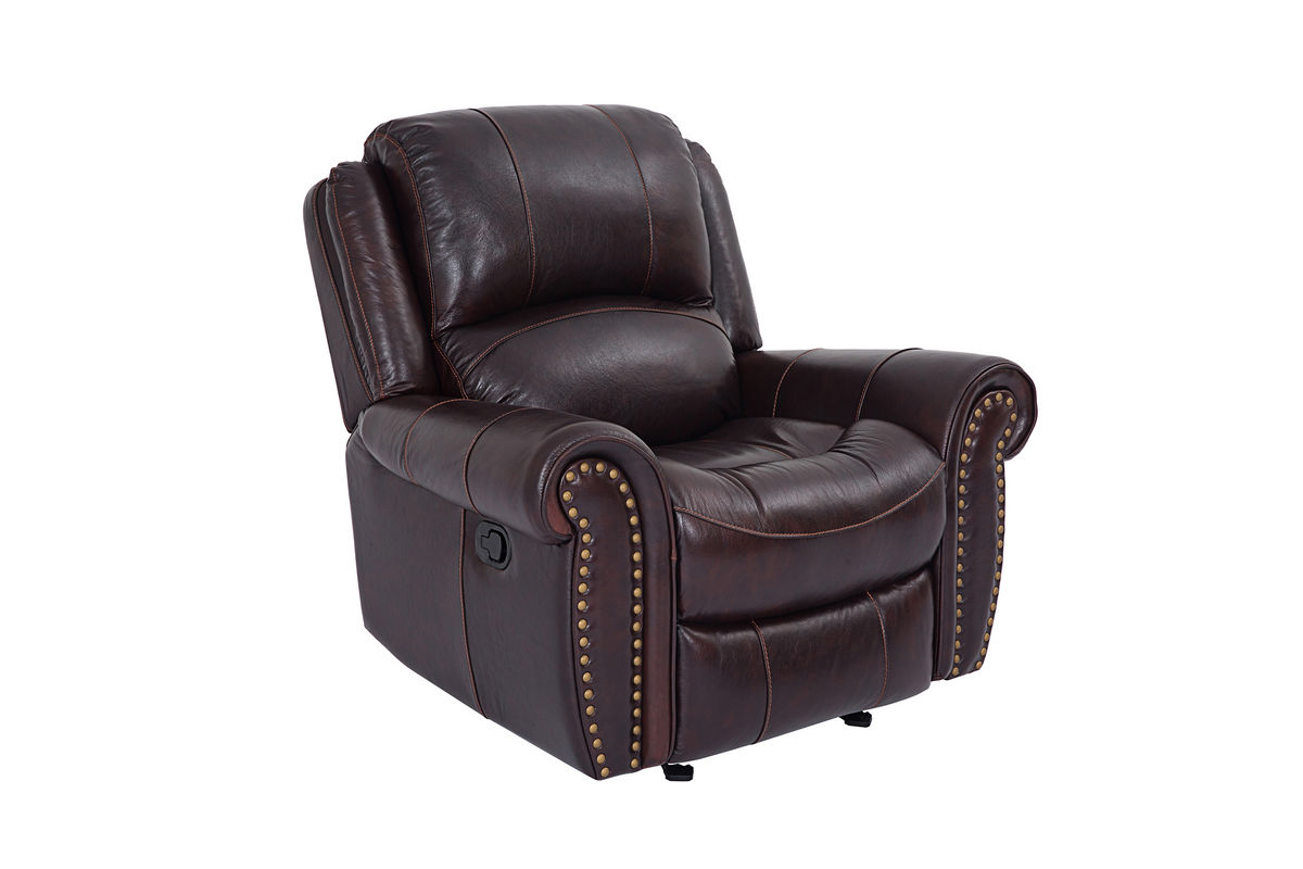 Westland Leather Rocker Recliner At Gardner White