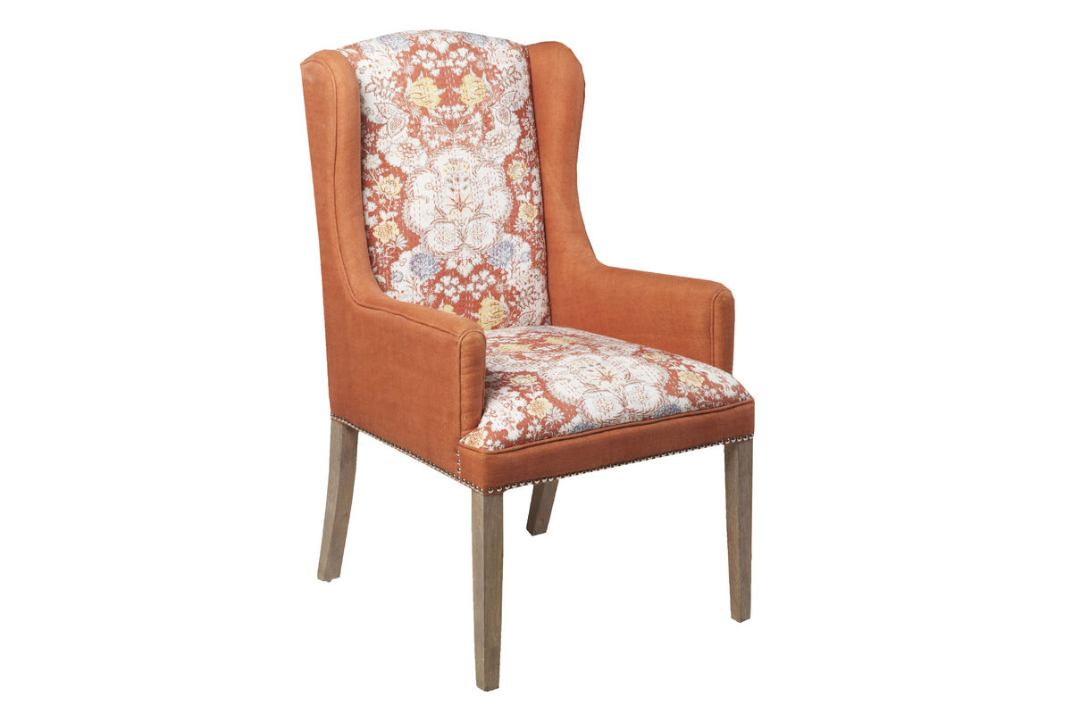 Surya Floral Rust Accent Chair From Gardner White Furniture