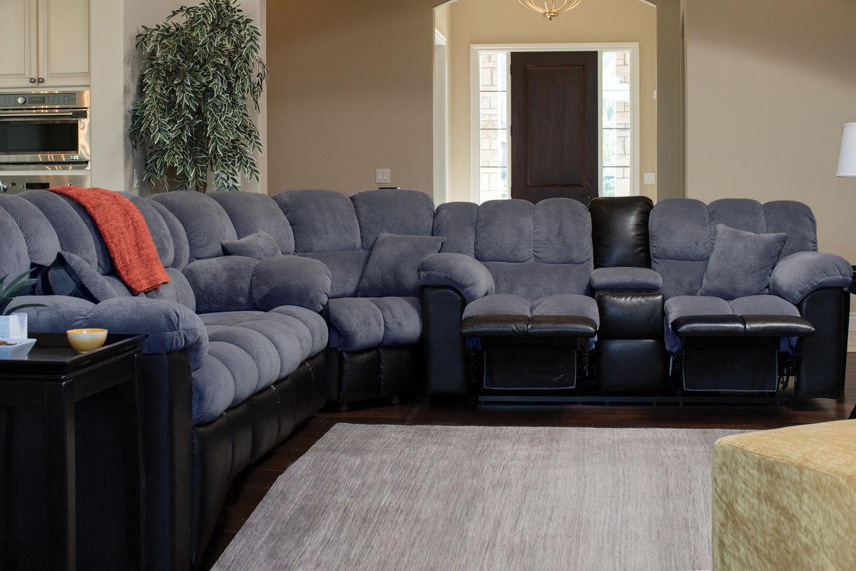 Microfiber reclining sofa roselawnlutheran for Microfiber living room furniture