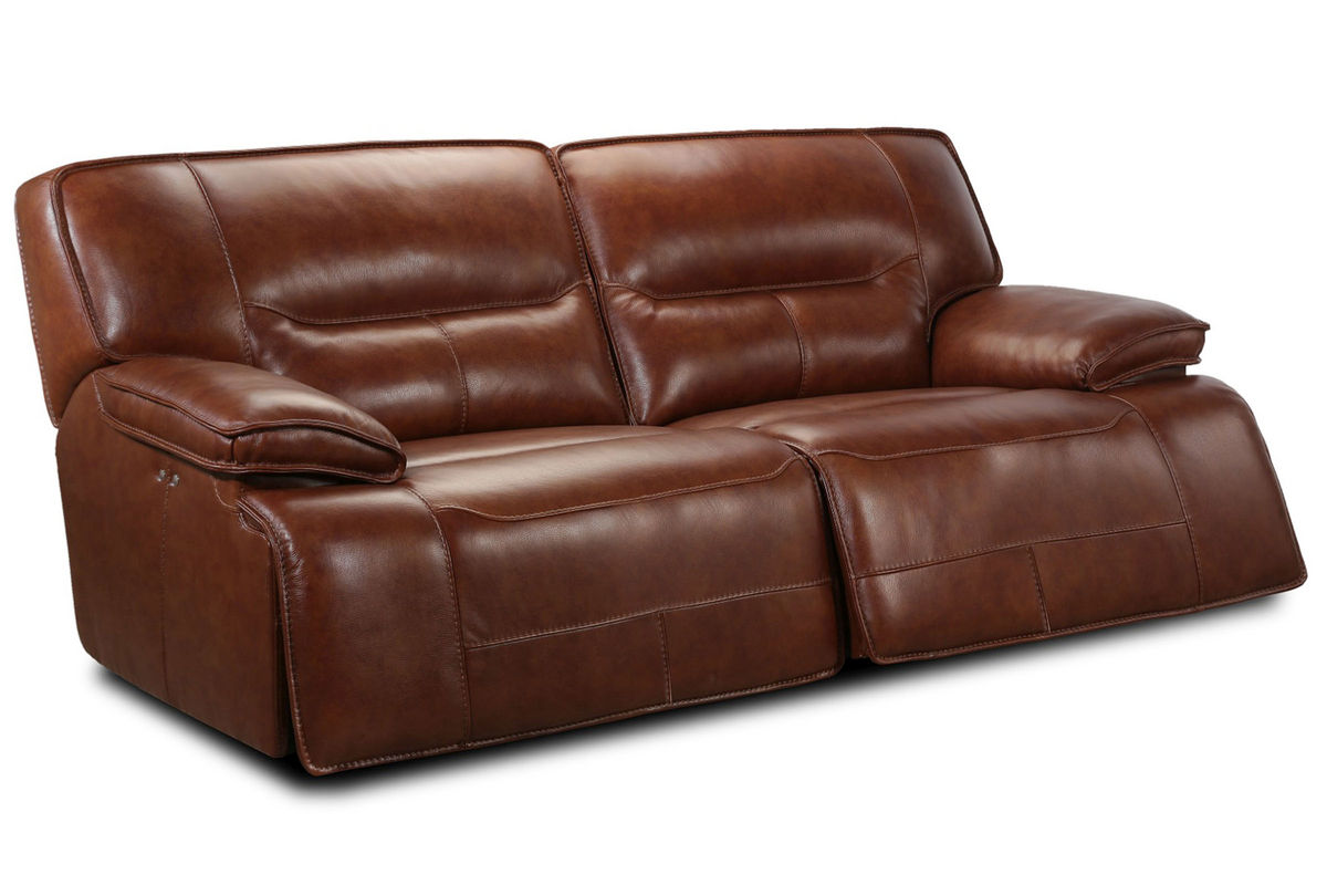 Drake leather power reclining sofa at gardner white for Furniture 60 months no interest