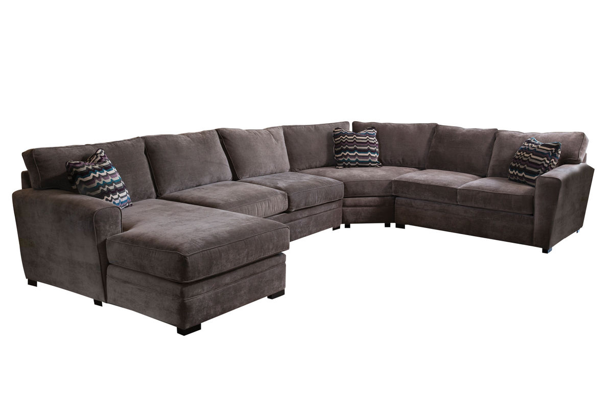 Gypsy Four Piece Left Arm Sectional At Gardner White