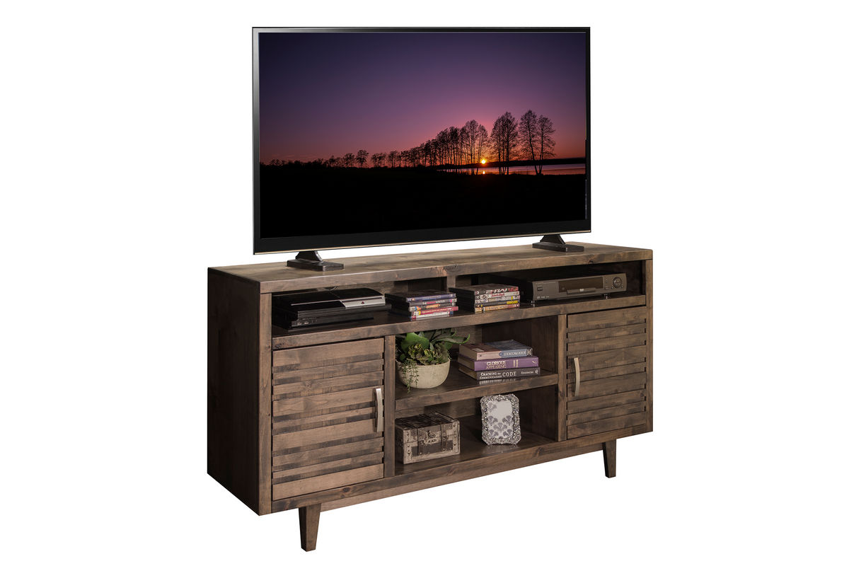 62 Tv Console Distressed Wood