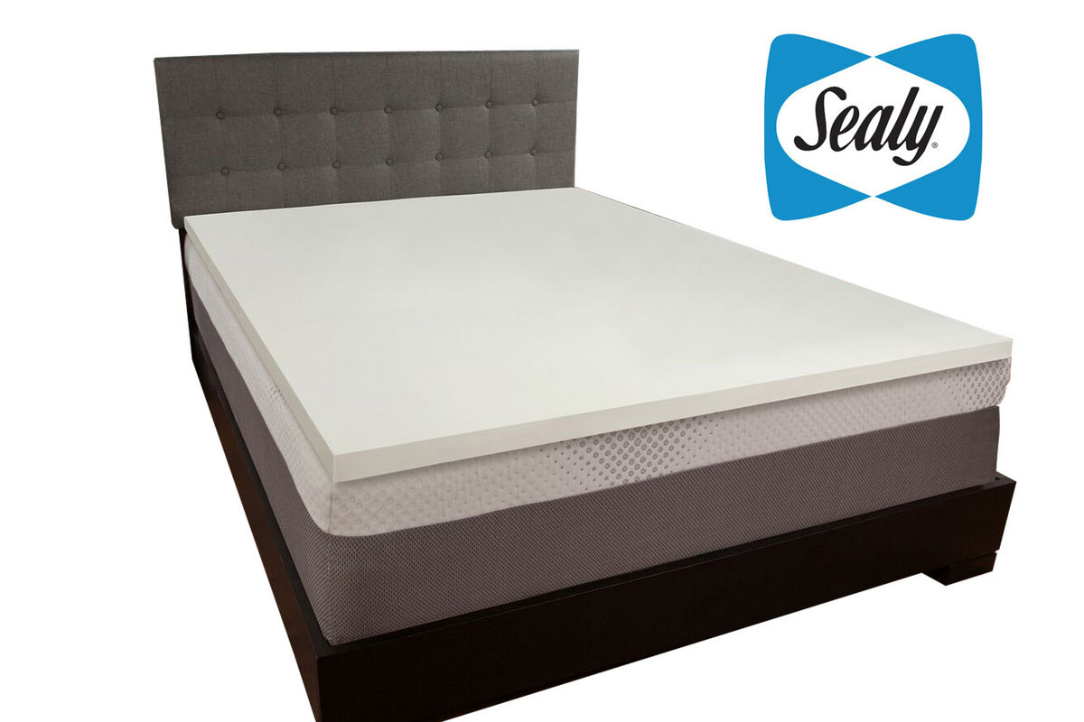 Sealy 1 5 Full Memory Foam Mattress Topper At Gardner White