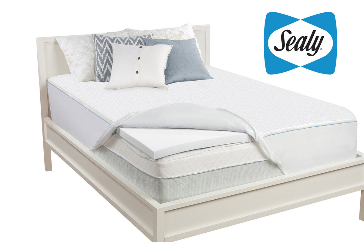 sealy 2 queen memory foam mattress topper at gardner white. Black Bedroom Furniture Sets. Home Design Ideas