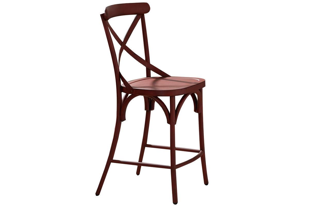 vintage x back red counter stool at gardner white. Black Bedroom Furniture Sets. Home Design Ideas