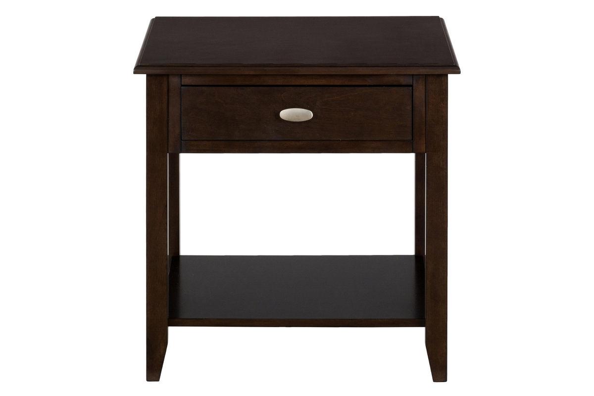 Merlot Square End Table from Gardner-White Furniture