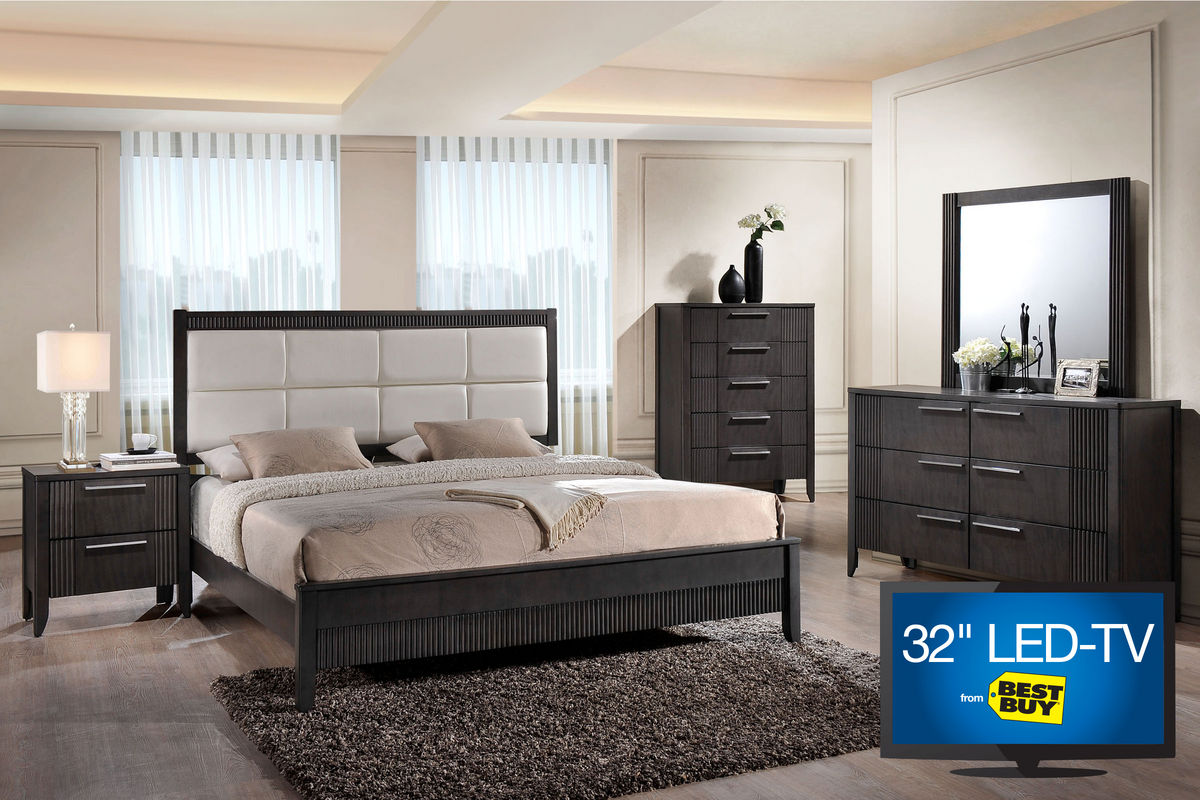 belair queen bedroom set with 32 led tv from gardner white furniture