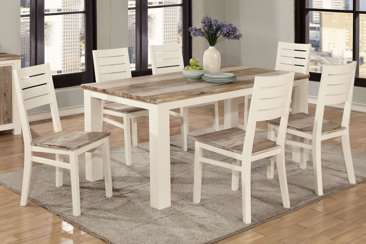 Sundance Two Tone Table With 6 Side Chairs At Gardner White