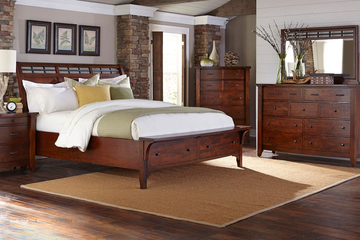 Whistler solid mango queen storage bed at gardner white for Gardner storage