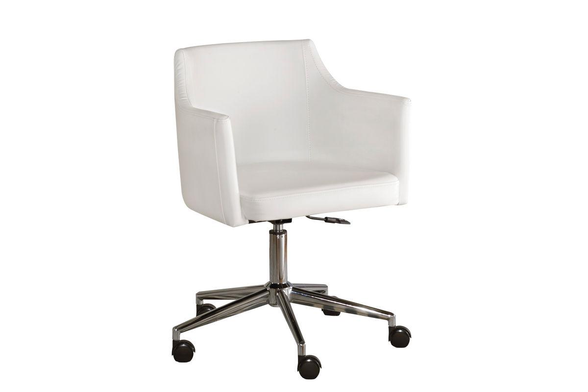 Ashley swivel desk chair at gardner white for Chair with swivel desk