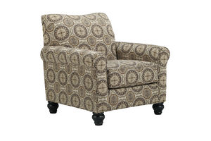 Breville Brown With Nailhead Rocker Recliner