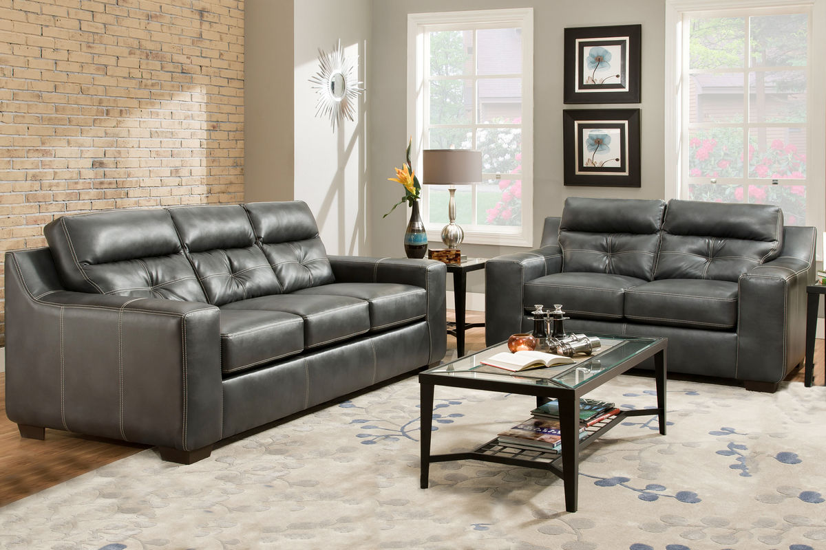 Oregon Bonded Leather Sofa Loveseat