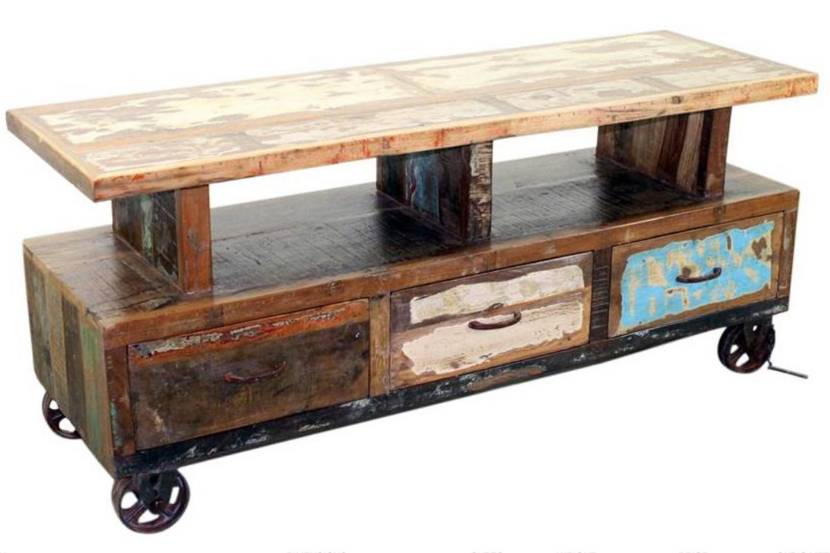 Rustic Media Unit On Wheels From Gardner White Furniture