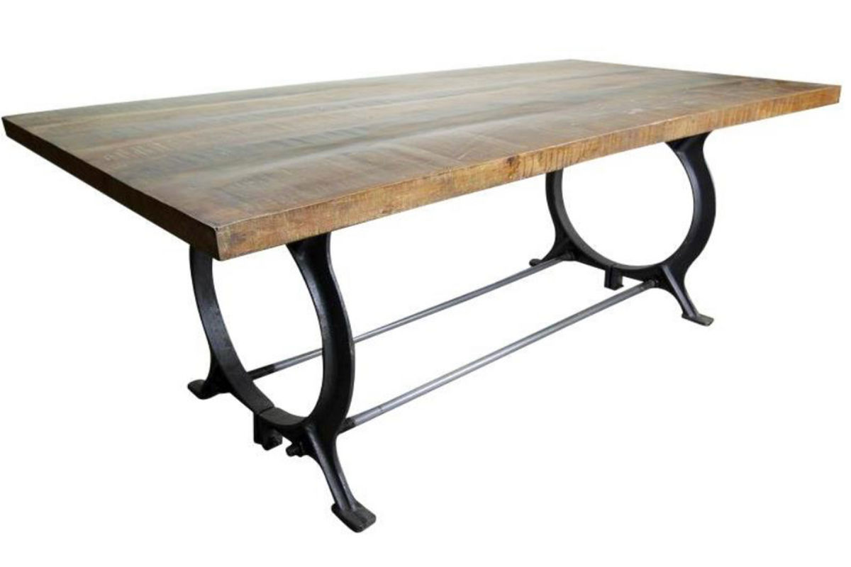 Dining table with iron frame at gardner white for Dining table frame