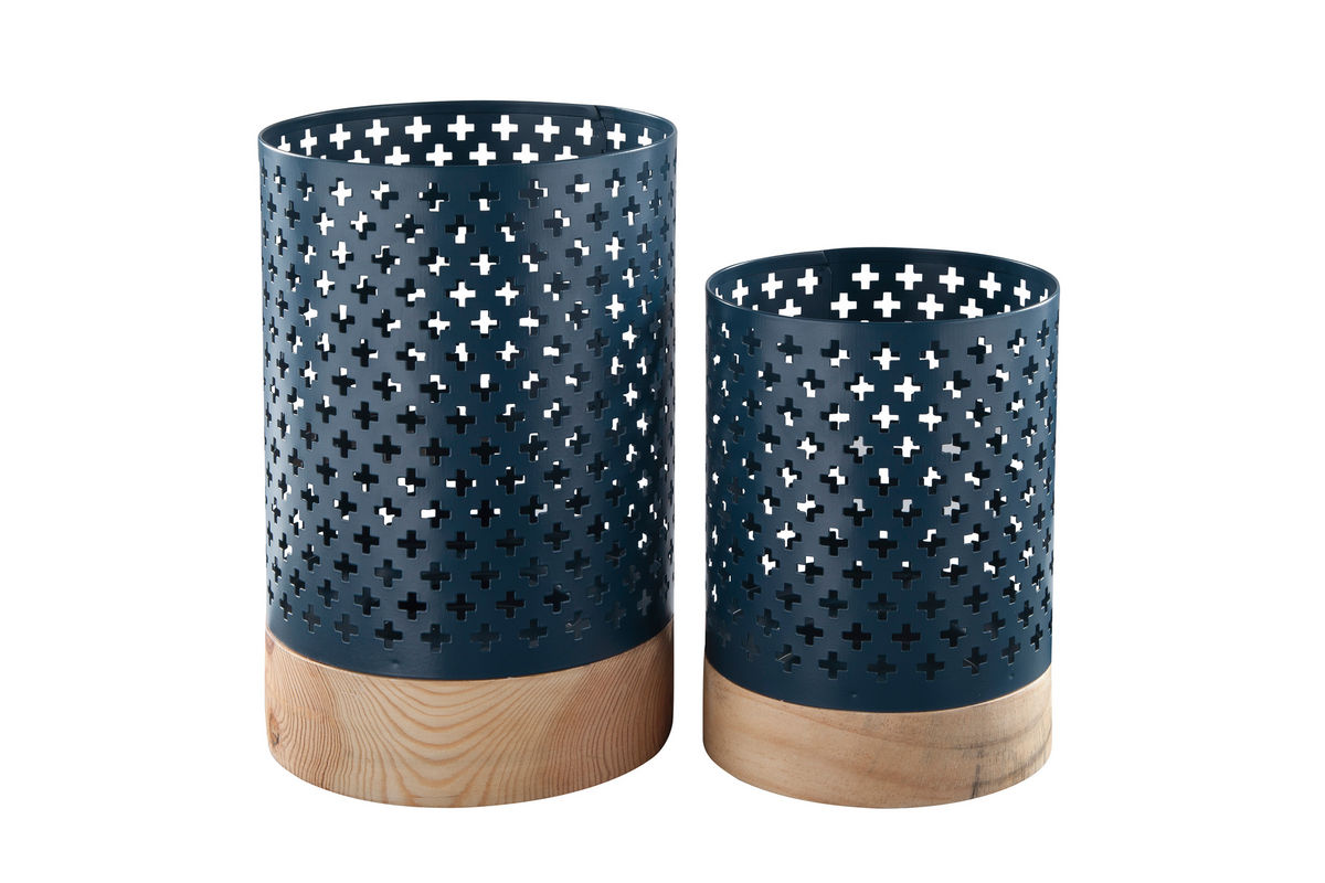 Daichi Navy Candle Holders by Ashley®