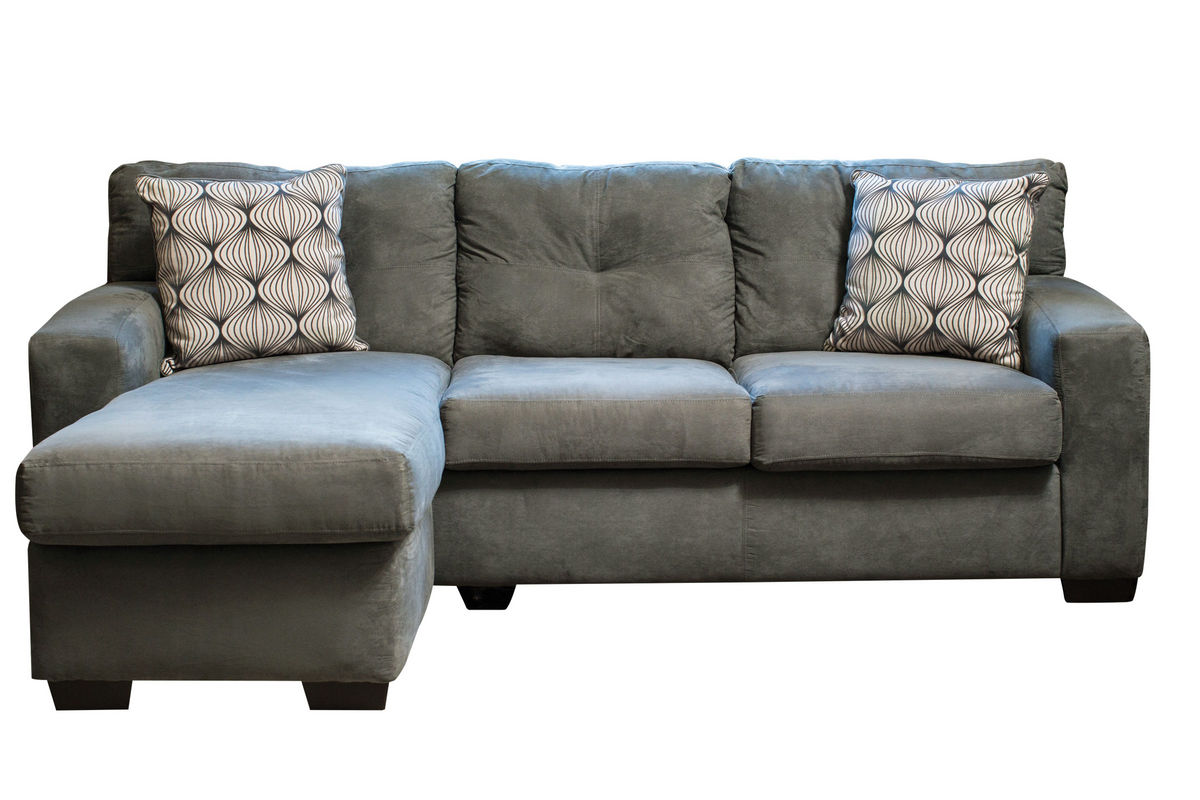 Dolphin Microfiber Sofa with Chaise from Gardner-White Furniture