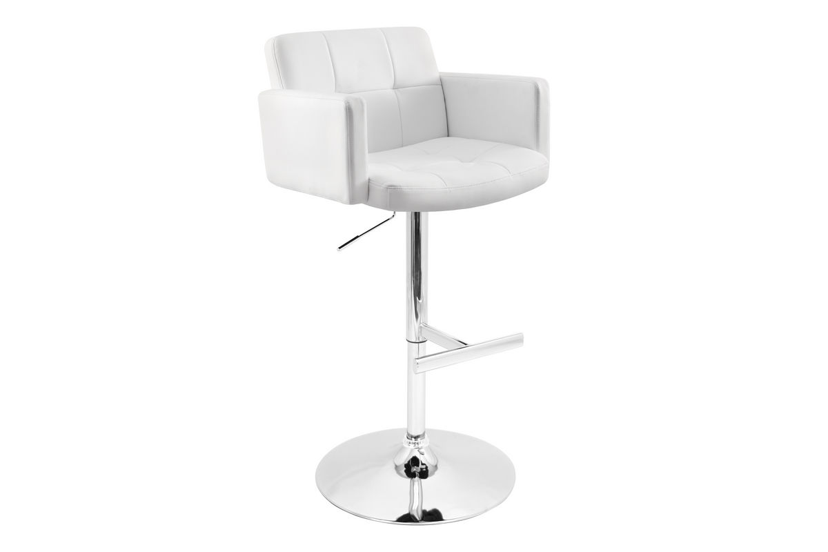 Stout White Bar Stool by LumiSource from Gardner-White Furniture
