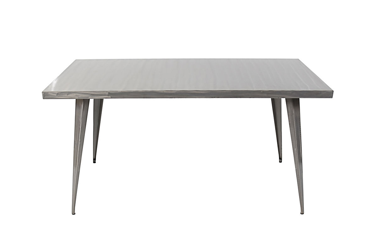 Austin Brushed Silver Dining Table By Lumisource At