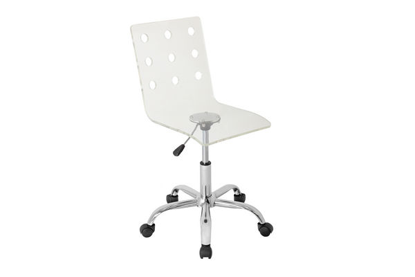 Swiss Acrylic Office Chair By LumiSource Save $77 Online Only $119.99 +  Free Shipping