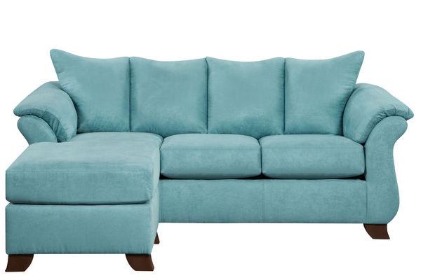 Taffy Microfiber Sofa With Floating Ottoman
