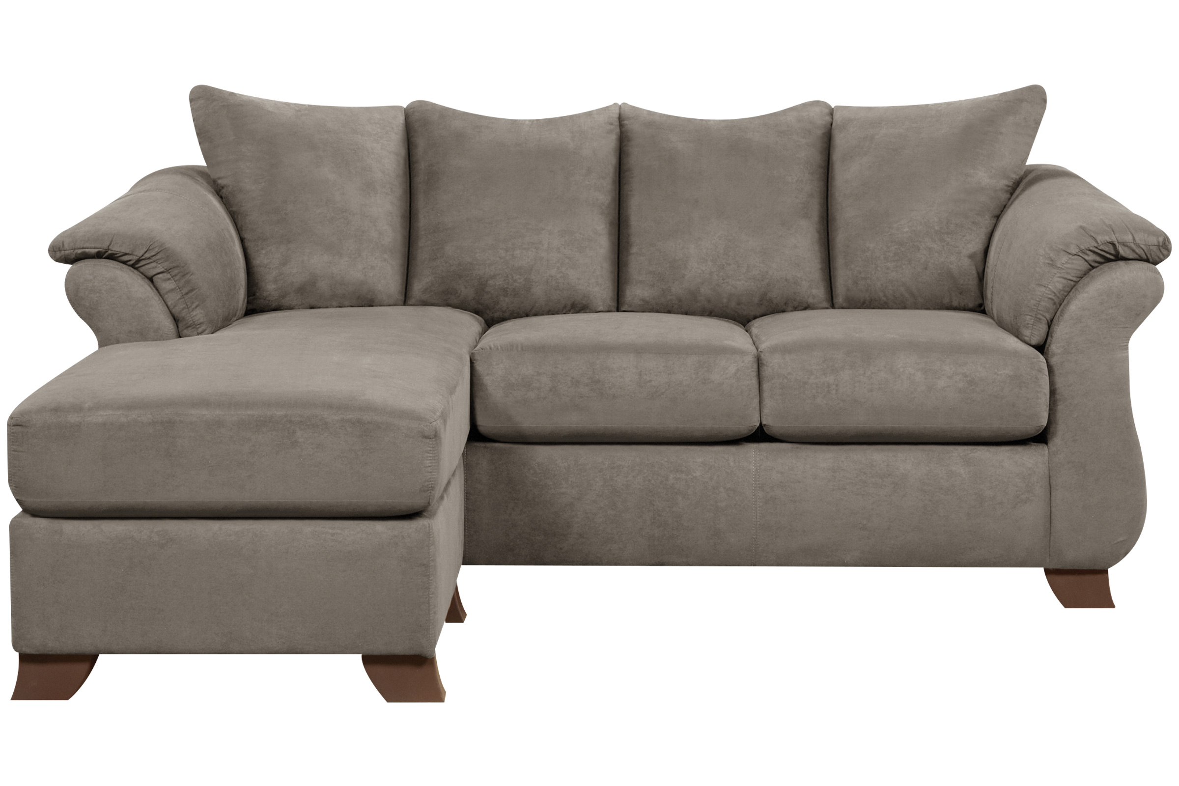 Upton Microfiber Sofa with Floating Ottoman