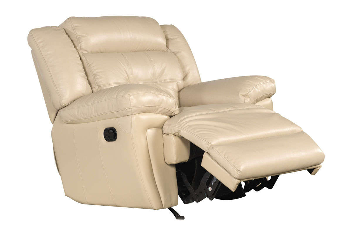 white leather rocker recliner