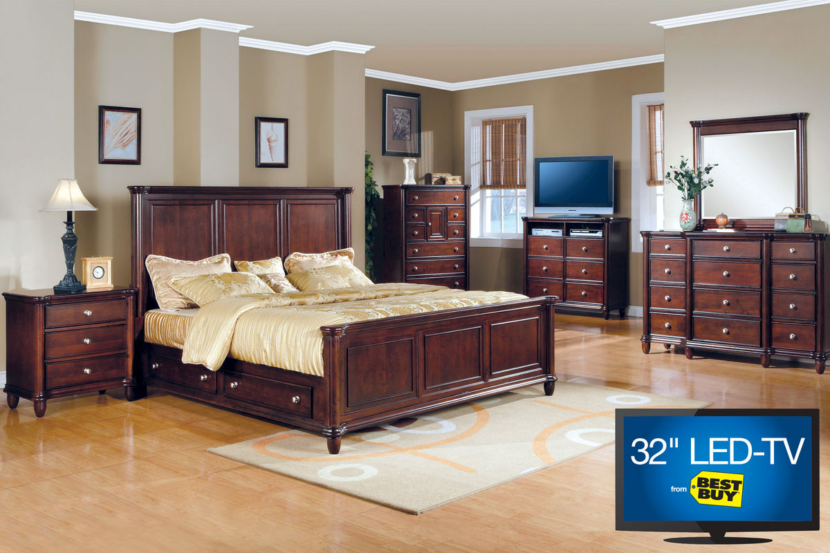 """Hamilton Queen Bedroom Set with 32"""" LED TV"""