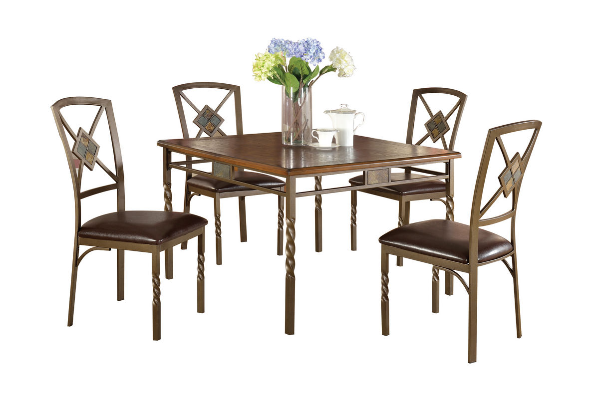 Nelson Dark Walnut Table Chairs At GardnerWhite - White and walnut dining table