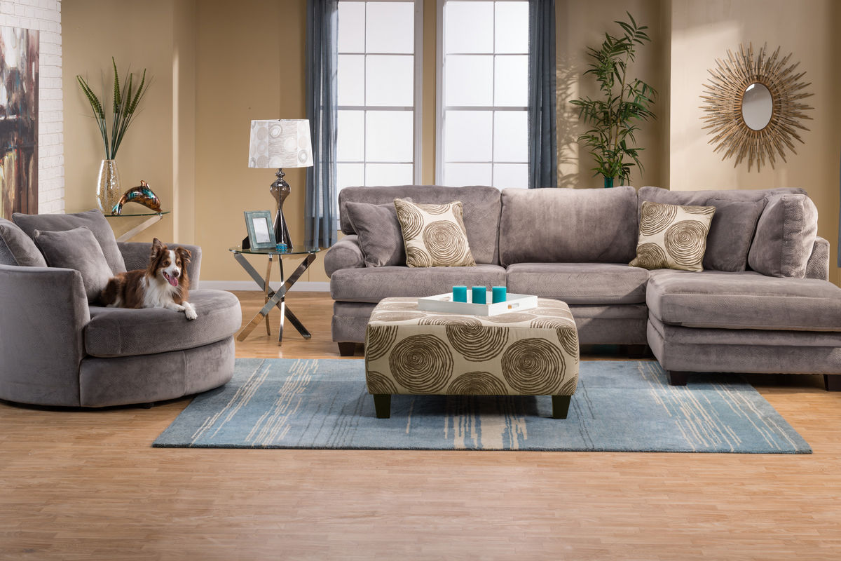 Gaylord Microfiber Sectional With Chaise On The Right At Gardner White