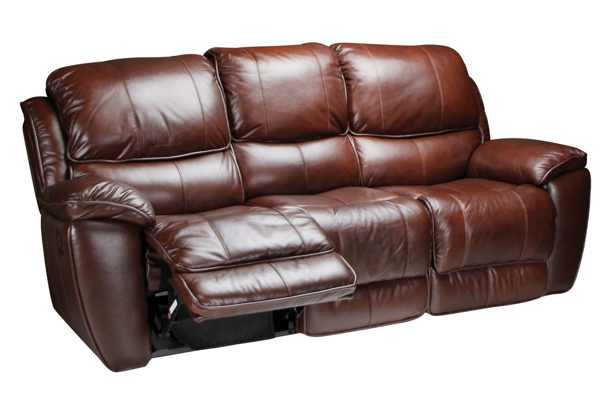 Crosby leather reclining sofa at gardner white for Recliner sofa
