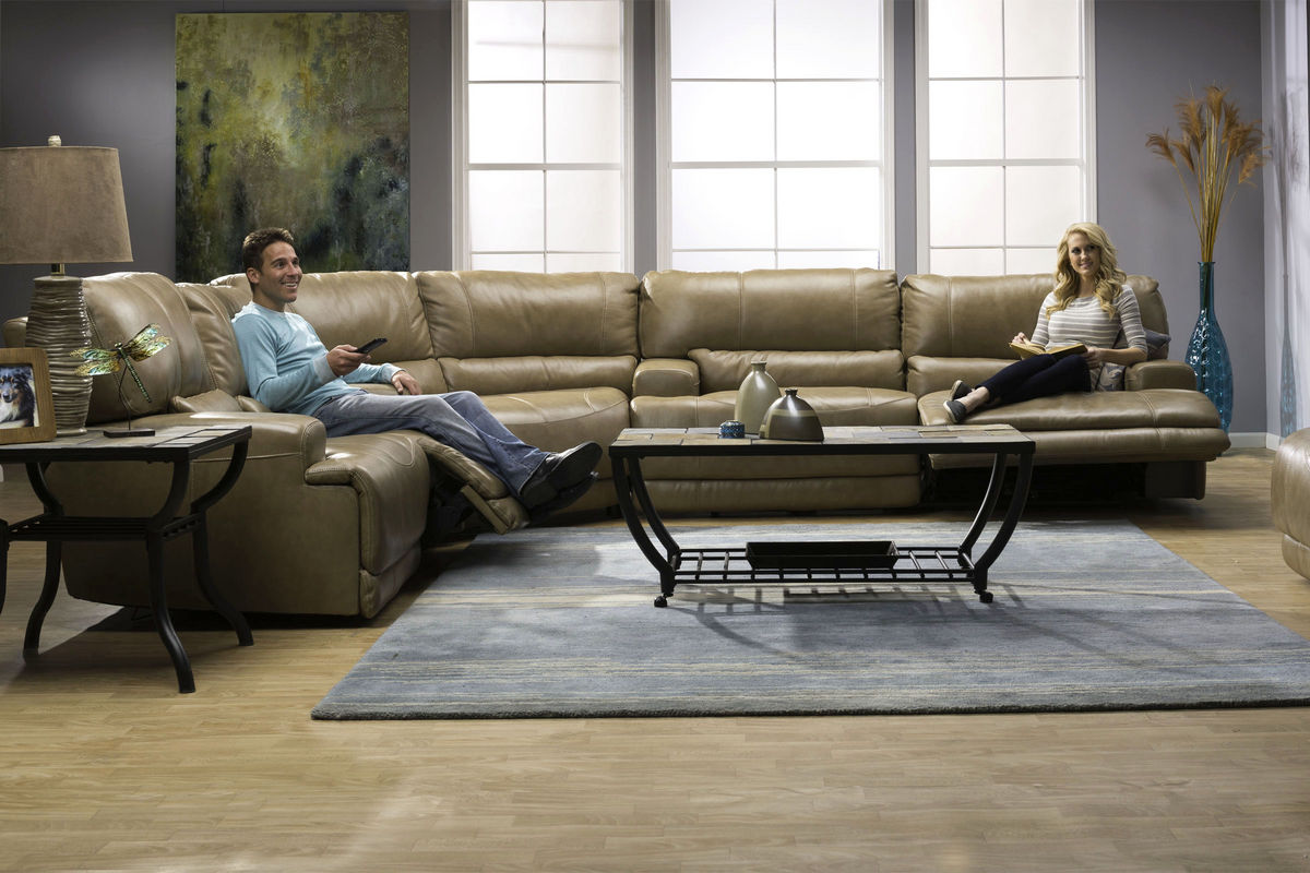 1fd9286d7ced22 Hamlin 3-Piece Power Reclining Leather Sectional at Gardner-White
